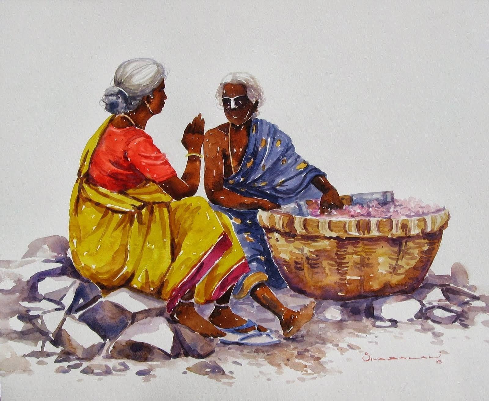 Pin By Praveena Prashanth On Village Music Drawings Indian
