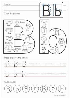 Alphabet Pages for Back to School | Schreiben lernen, Arbeitsblätter ...