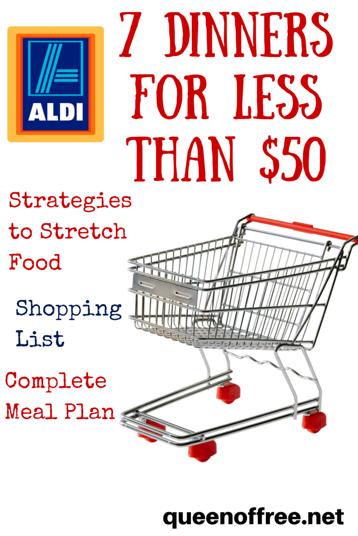 aldi meal plan 7 dinners for less than 50 food yum d