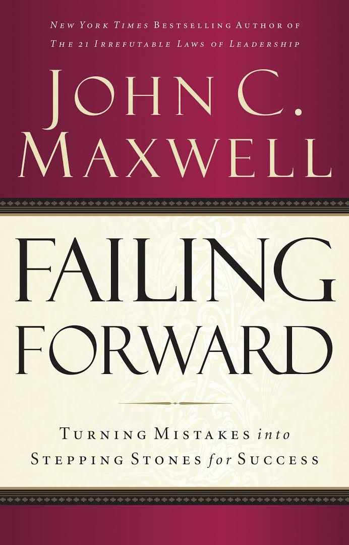"""America s expert on leadership, John C Maxwell teaches straight forward principles for overcoming failure and gives fifteen solid steps to help you become the kind of achiever you ve always wanted to be. Failing Forward - Turning mistakes into stepping stones for success."""