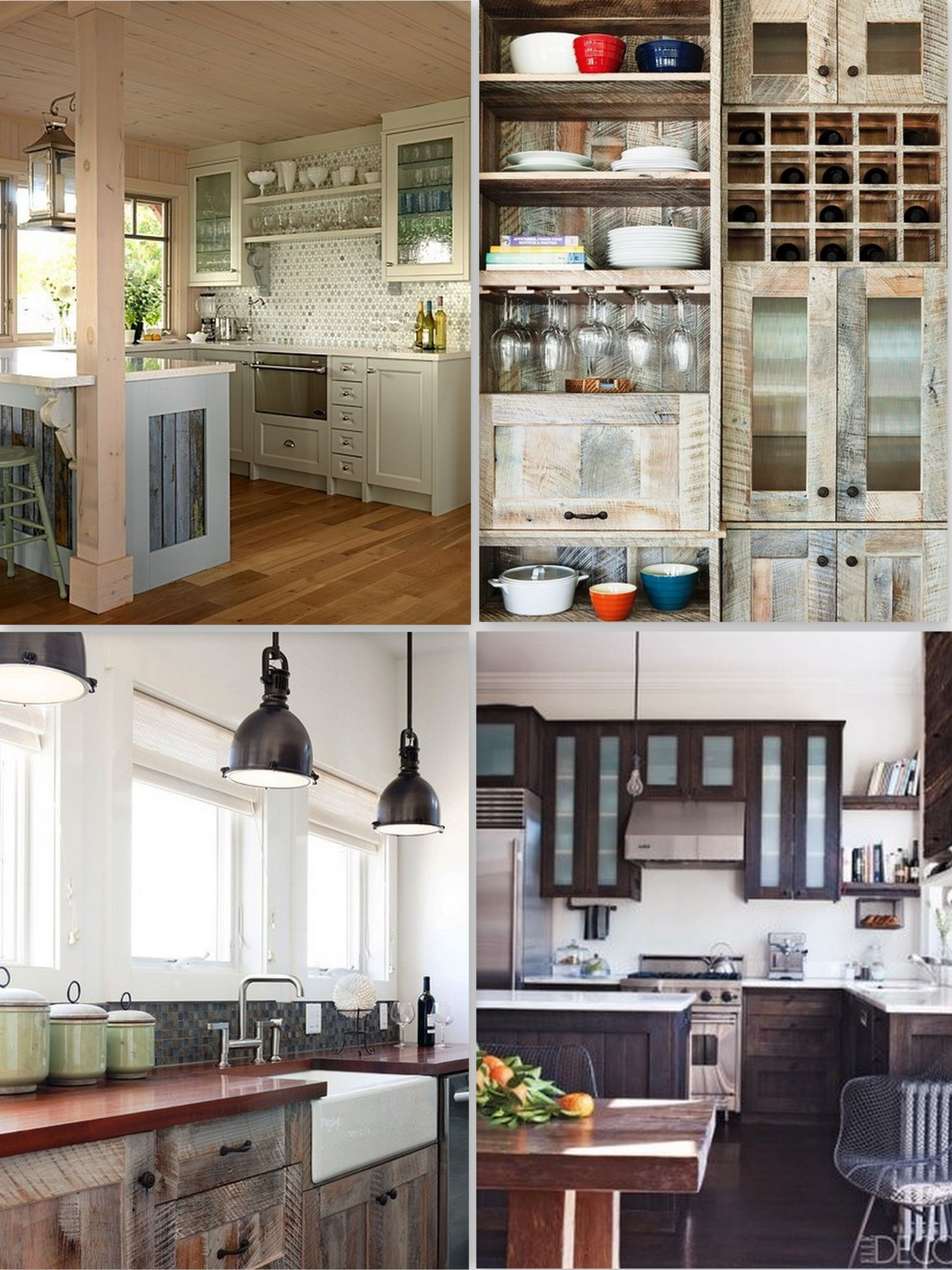 Fascinating Reclaimed Wood Kitchen Cabinets Picture And Decoration Ideas  With Wood Kitchen Cabinets With White Trim And Wood Kitchen Cabinet Doors  Kitchen ...