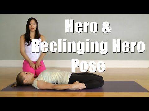 hatha yoga hero virasana and reclining hero supta