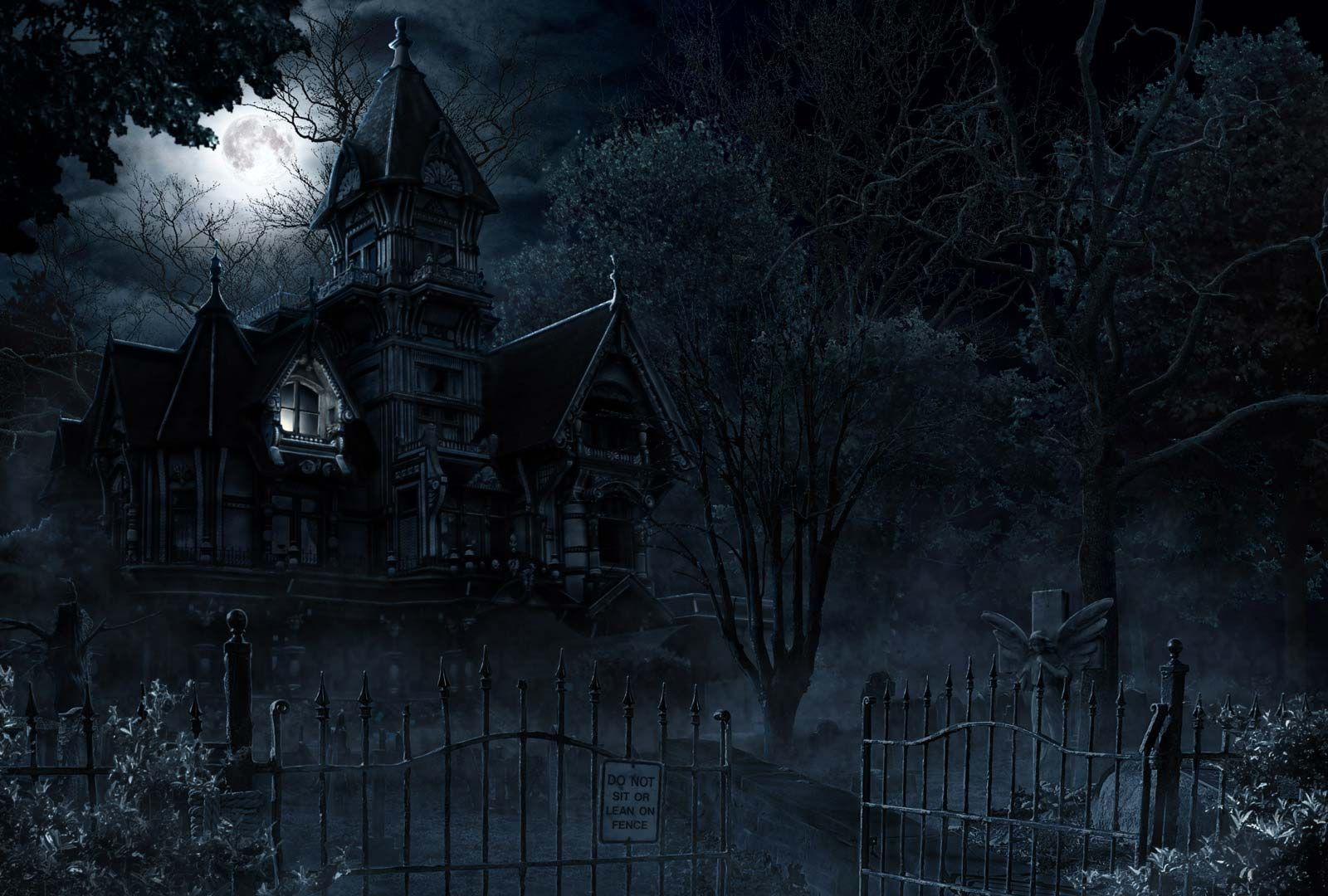 view download comment and rate this 1600x1080 haunted wallpaper wallpaper abyss - Creepy Halloween Wallpapers