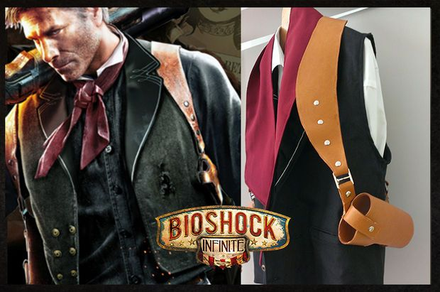 Instructables: How to make a Booker DeWitt gun holster from Bioshock Infinity
