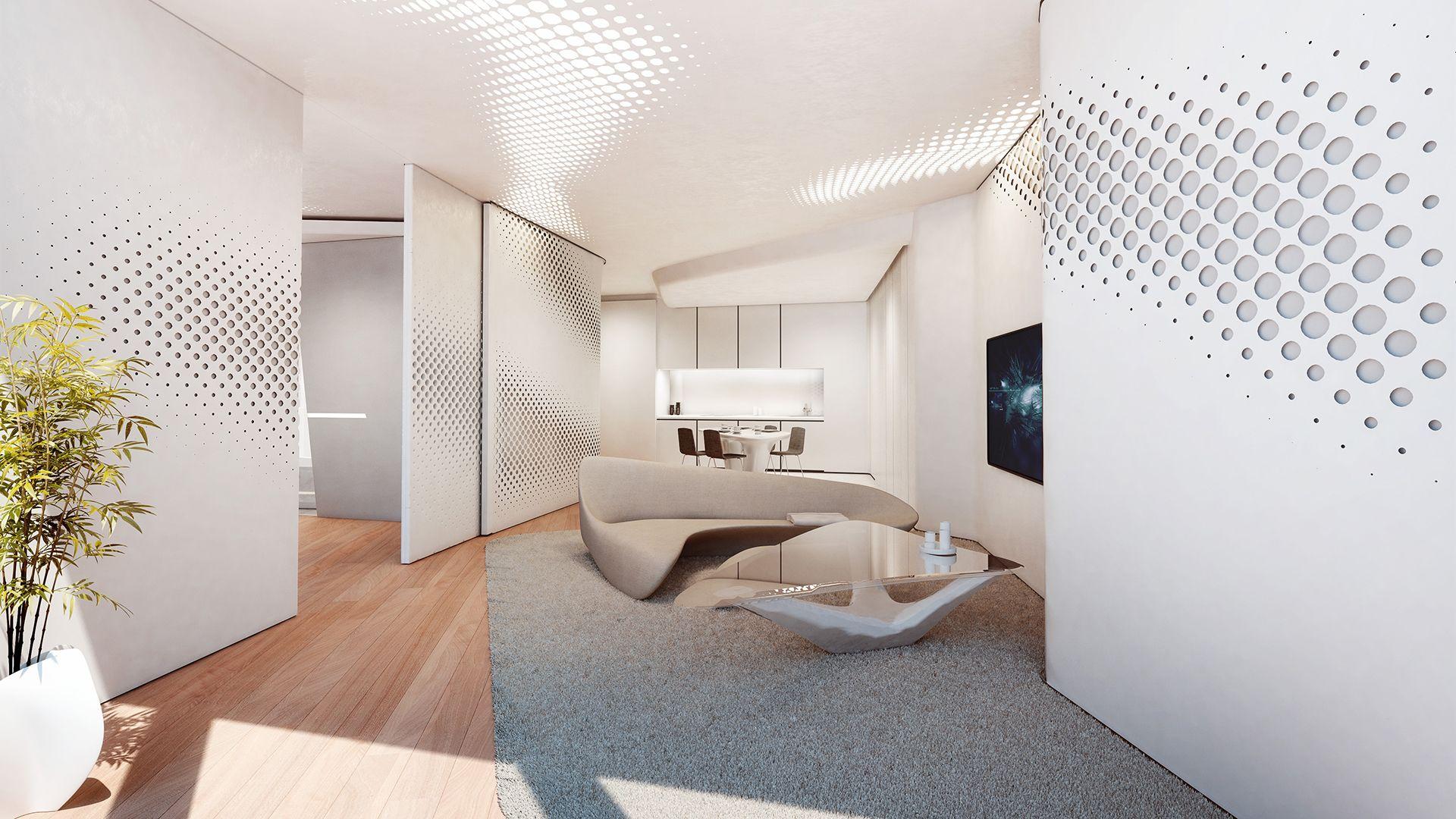 See Inside Dubai\'s Opus Office Towers, Where Zaha Hadid Designed Her ...