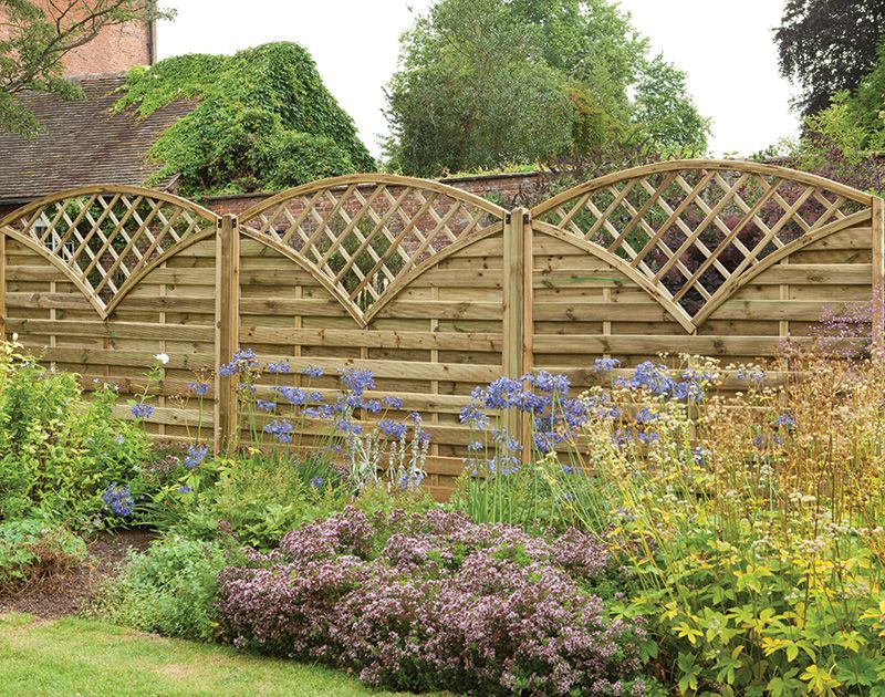 fence panels with trellis