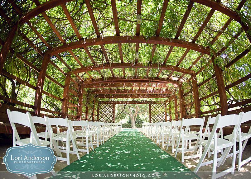 Fullerton Arboretum The Arbor Ceremony Under E Myrtle Wedding