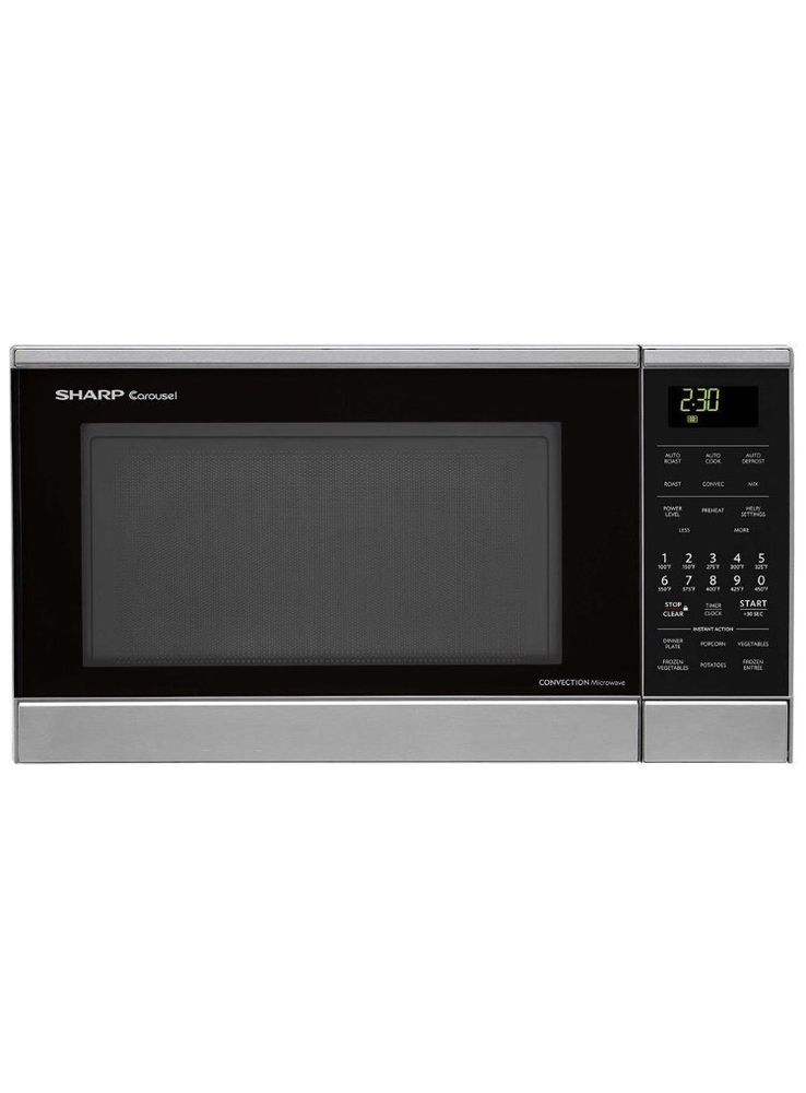 Convection Microwave Oven Sharp 900w Stainless Steel Countertop Roasting Baking Ebay