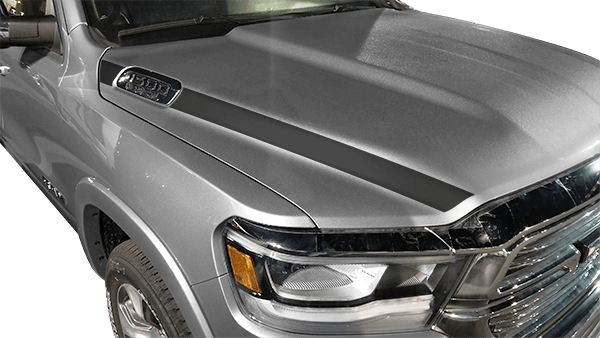 20192019 Dodge RAM 1500 Hood Side Stripes Design Style