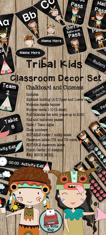Classroom Decor Bundles : Classroom decor mega bundle tribal kids theme