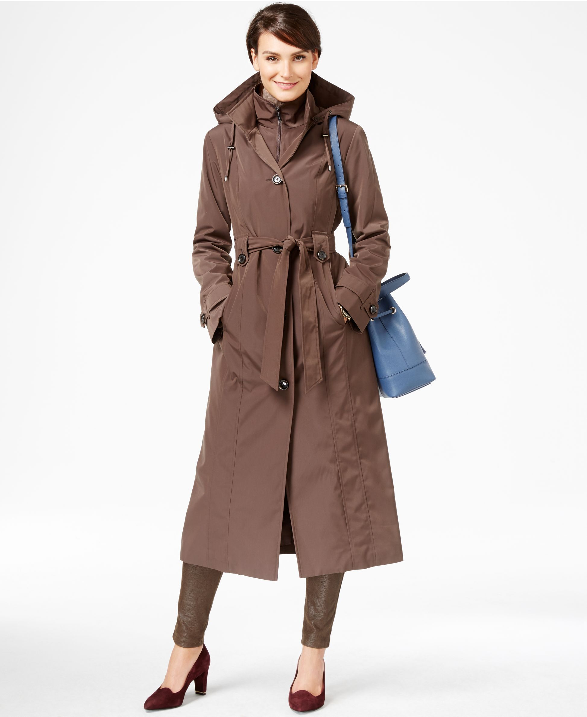 e2fb5ba320a London Fog Plus Size Layered Maxi Trench Coat