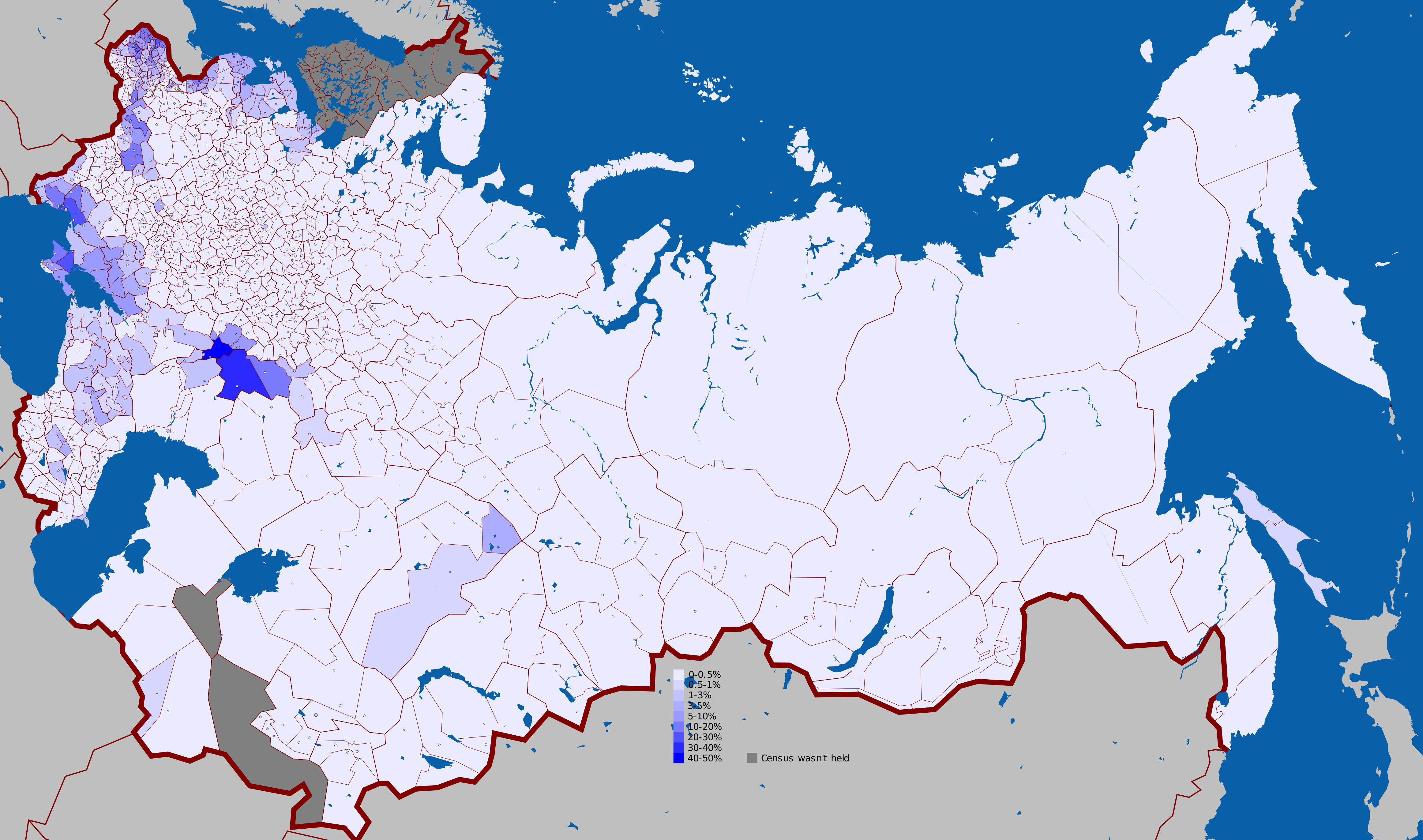 German language in the Russian Empire 1897