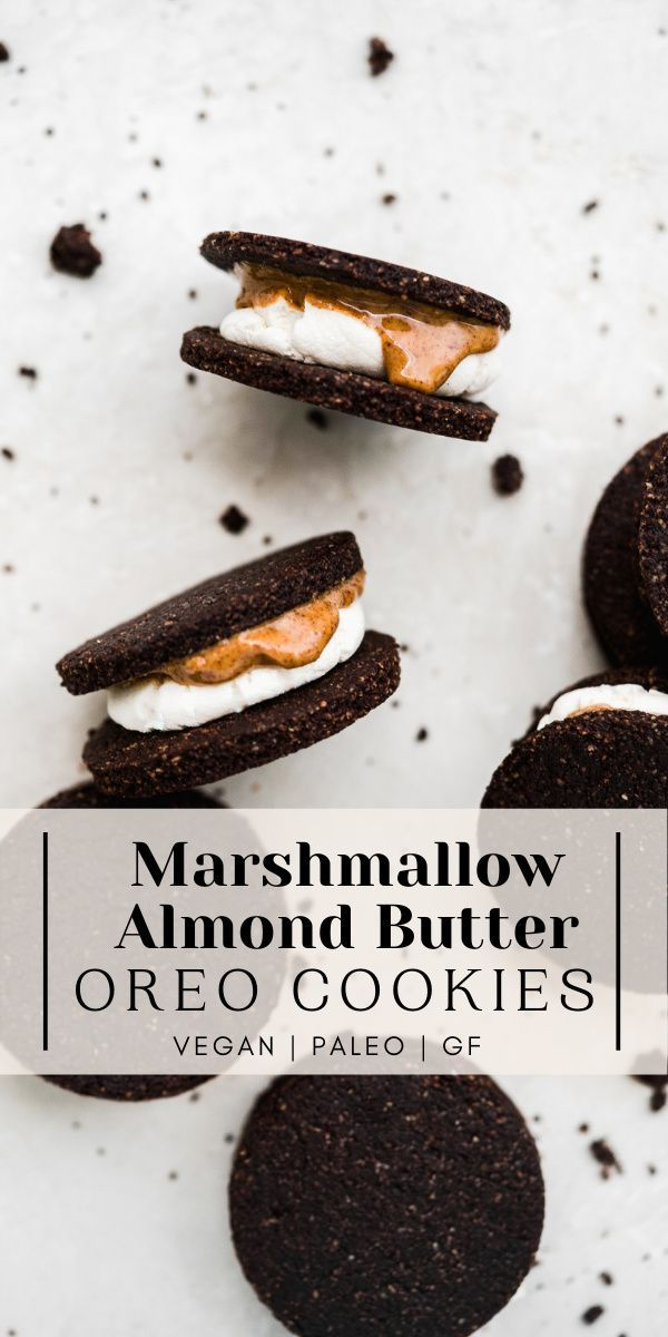Vegan Almond Butter Marshmallow Oreo Cookies (Pale