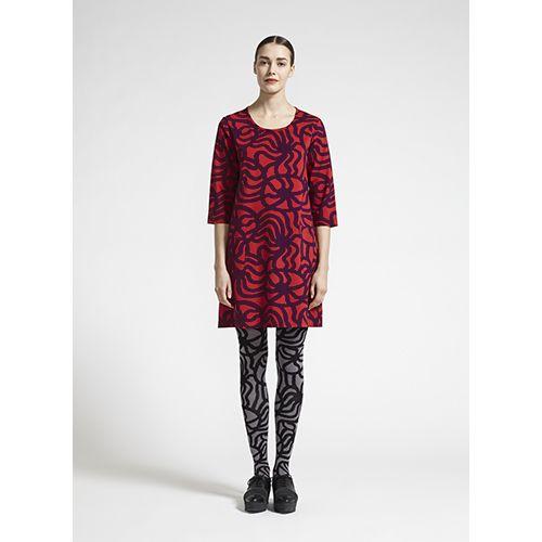 Marimekko Muru Red/Purple Dress