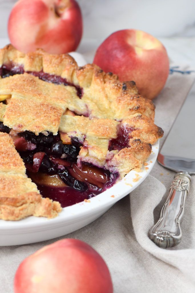 Nectarine Blueberry Pie Is The Best Summer Fruit Combination Step By Instructions