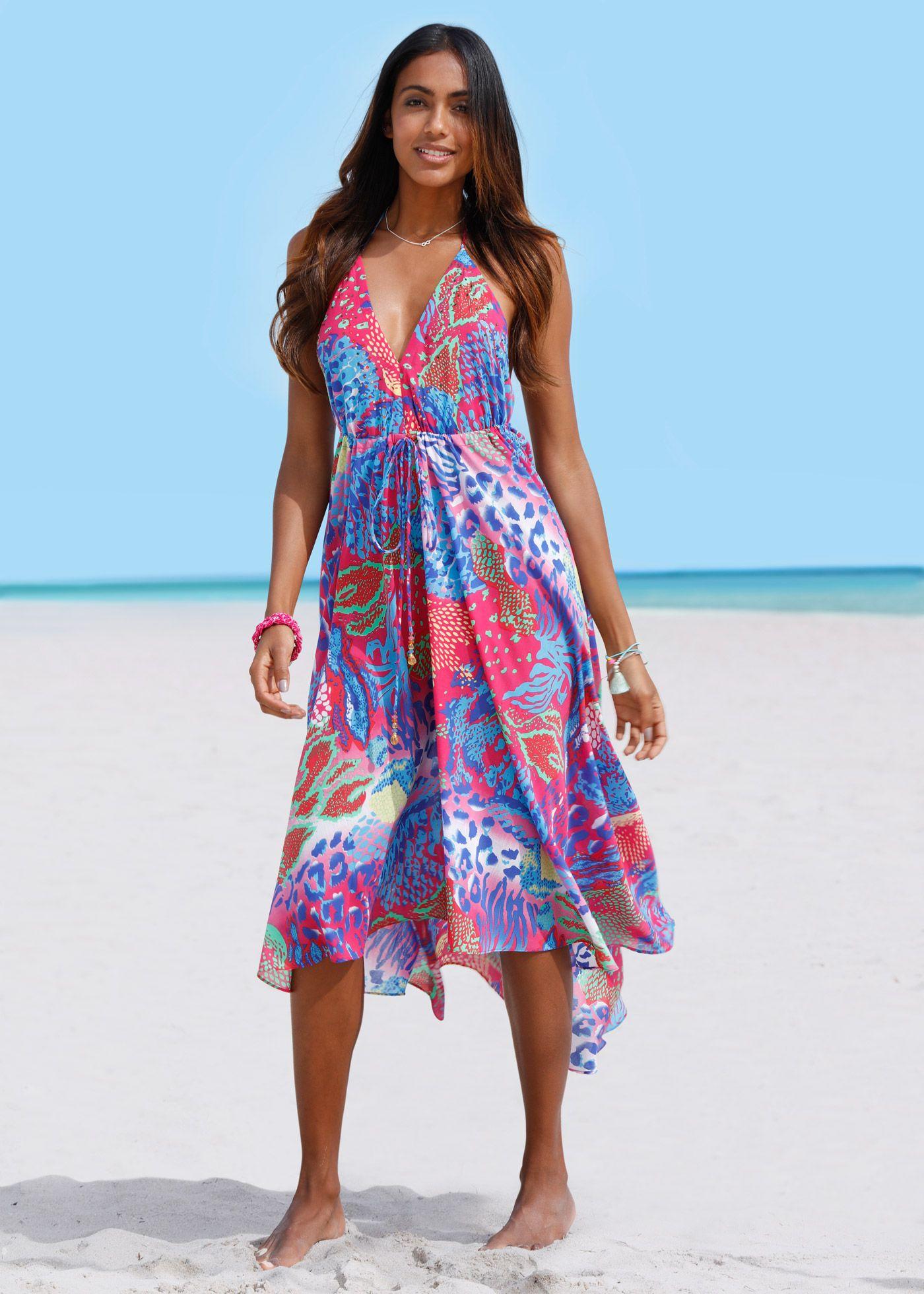 Strandkleid Pink Blau Bedruckt Bpc Selection Jetzt Im Online Shop Von Bonprix De Ab 39 99 Bestellen Sommerkleider Vintage Strandkleid Sommer Strandkleider