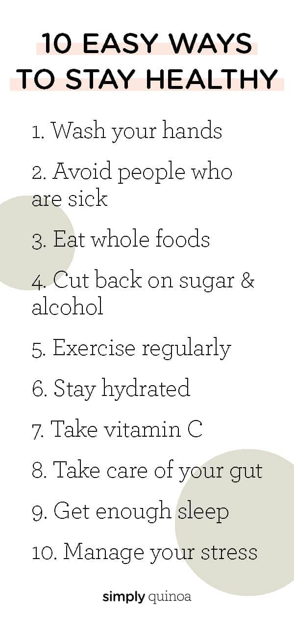 10 Ways to Stay Healthy {Easy Daily Habits!} – Simply Quinoa