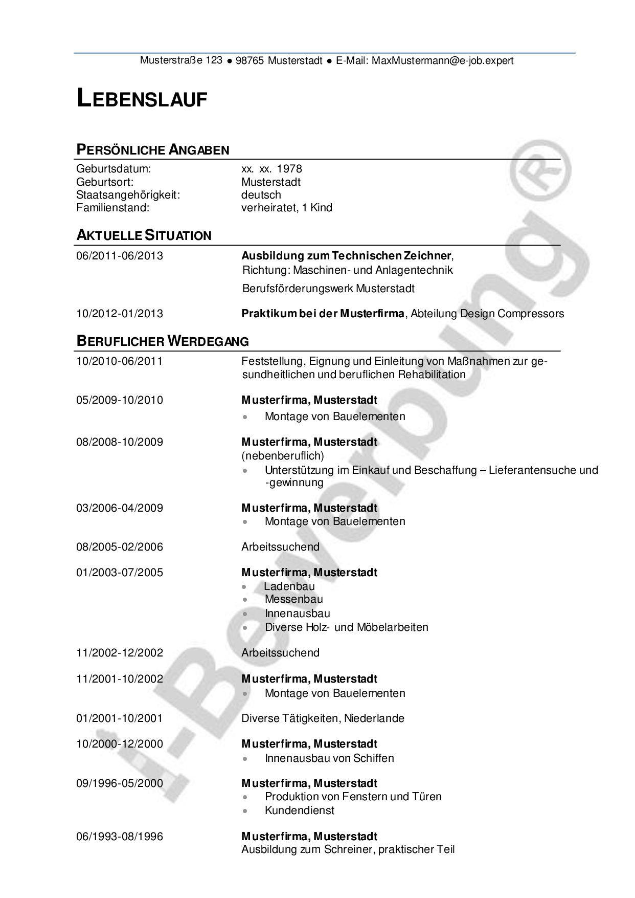 Gemütlich Beispiel Ratgeber Lebenslauf Fotos - Entry Level Resume ...