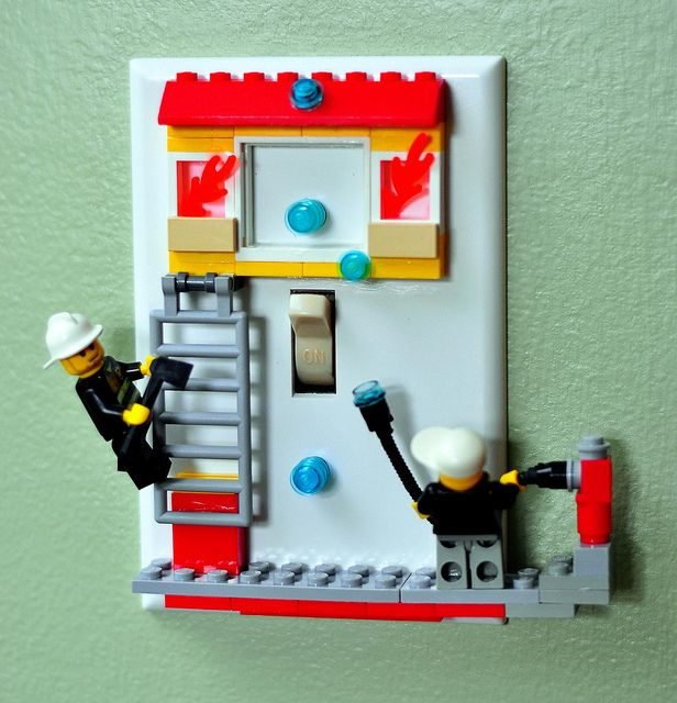 lego room decorations for boys drop and blog lego switchplates - Boys Room Lego Ideas