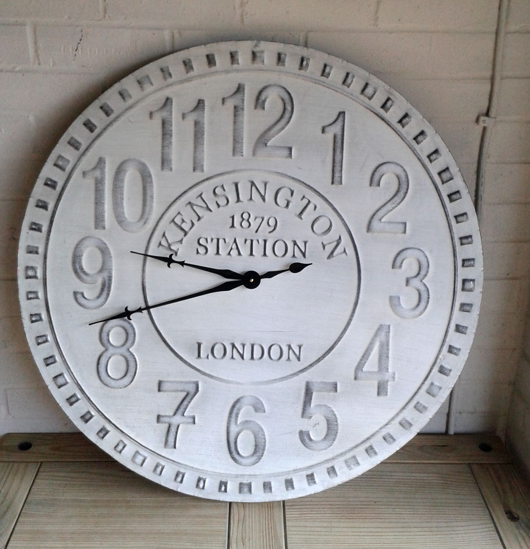 Extra Large Shabby Chic Vintage Style Wall Clock Elsie