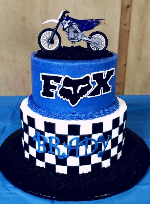 Terrific Dirt Bike Cake Fox With Images Bike Birthday Parties Boy Funny Birthday Cards Online Inifofree Goldxyz