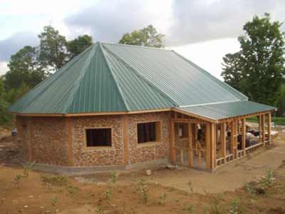 Building with green materials building woods and for Cordwood building plans