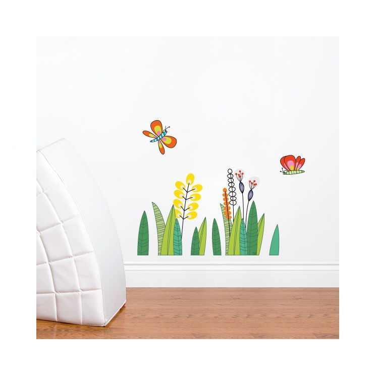 Ludo Butterflies In The Grass Wall Decal Kids Wall Decals Wall Decals Wall Stickers Kids