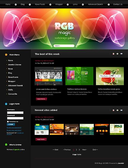 Web design joomla web template web design pinterest for Web page architecture