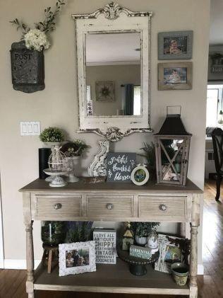 Cool Farmhouse Entryway Decorating Ideas24 Entry Table Decor Home Decor Country House Decor