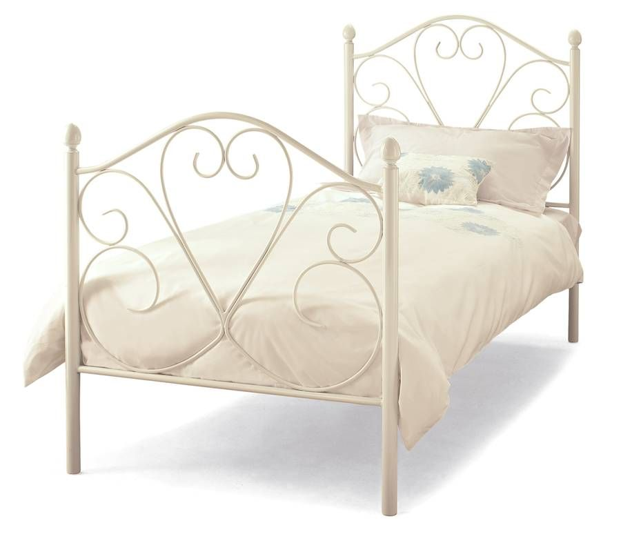 Isabelle Single Bed Frame From The Bed Warehouse Direct White