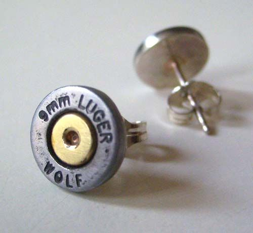 9mm Bullet Case Earrings // @Laura Jayson Jayson Jayson Jayson Jayson Jayson Hunkin :-)
