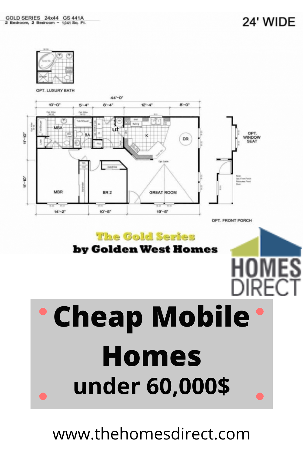 Golden Series 441a In 2020 Floor Plans How To Plan West Home