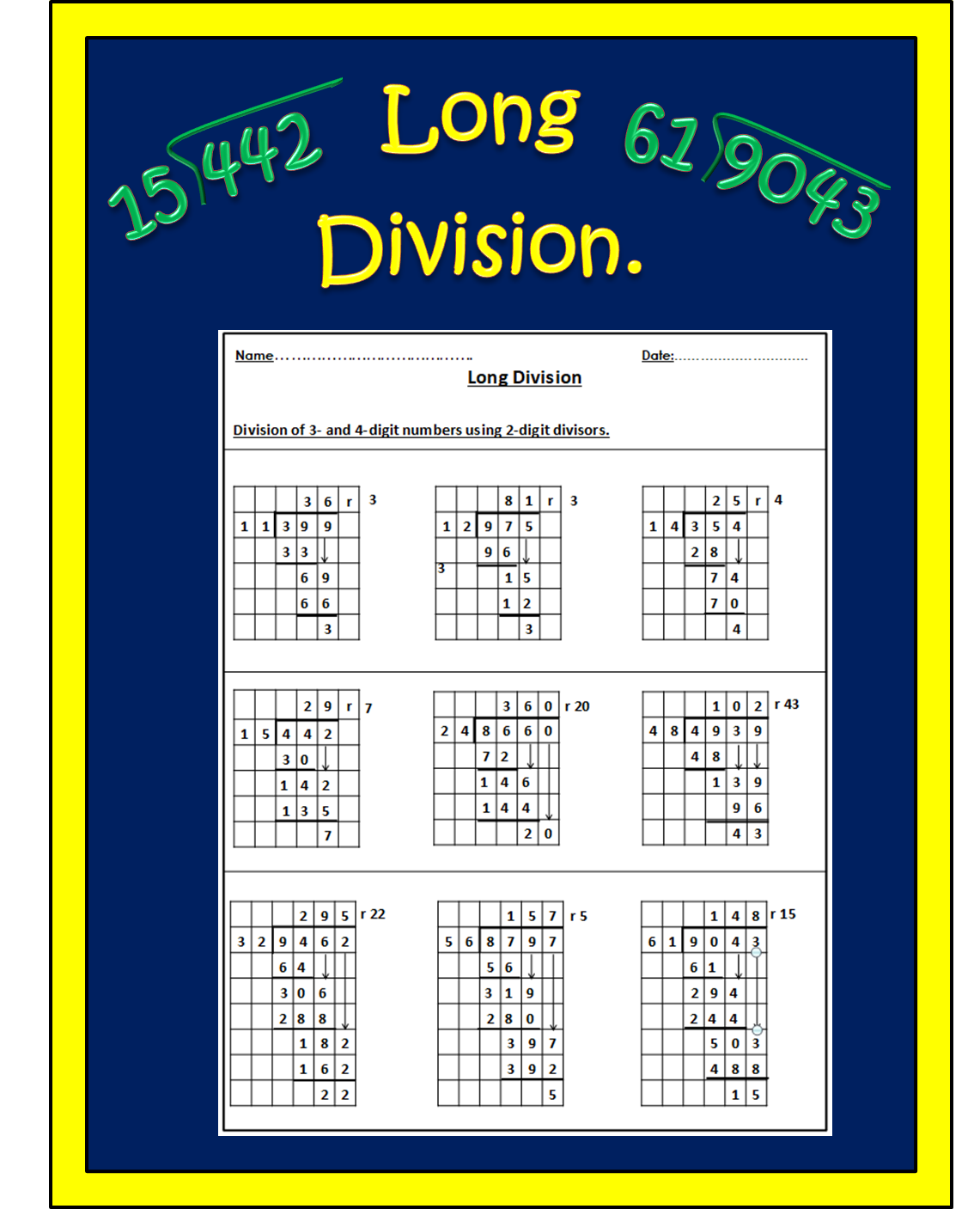 Long Division Image By All Things Maths On Maths