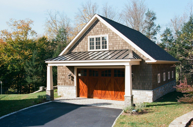 Porch Overhang With Everlast Standing Seam On 30 X 36 Newport Custom Garage Garage Building Plans Garage Plans Detached Porch Overhang