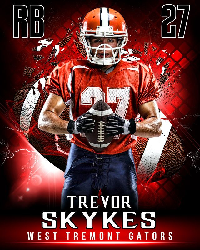 sports poster photo template shattered football sports poster
