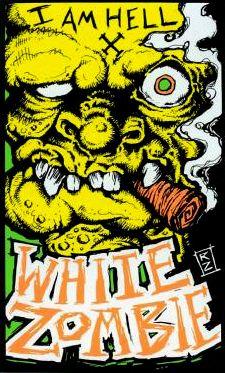 Artwork From 1993 Rob Zombie Art White Zombie Band White Zombie