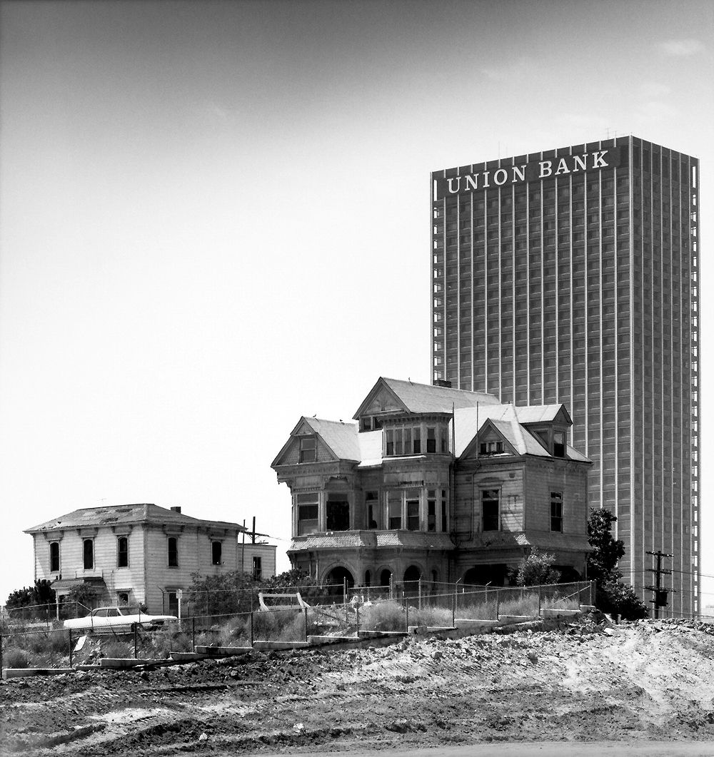 The Old And The New: The Last Houses On Bunker Hill, By