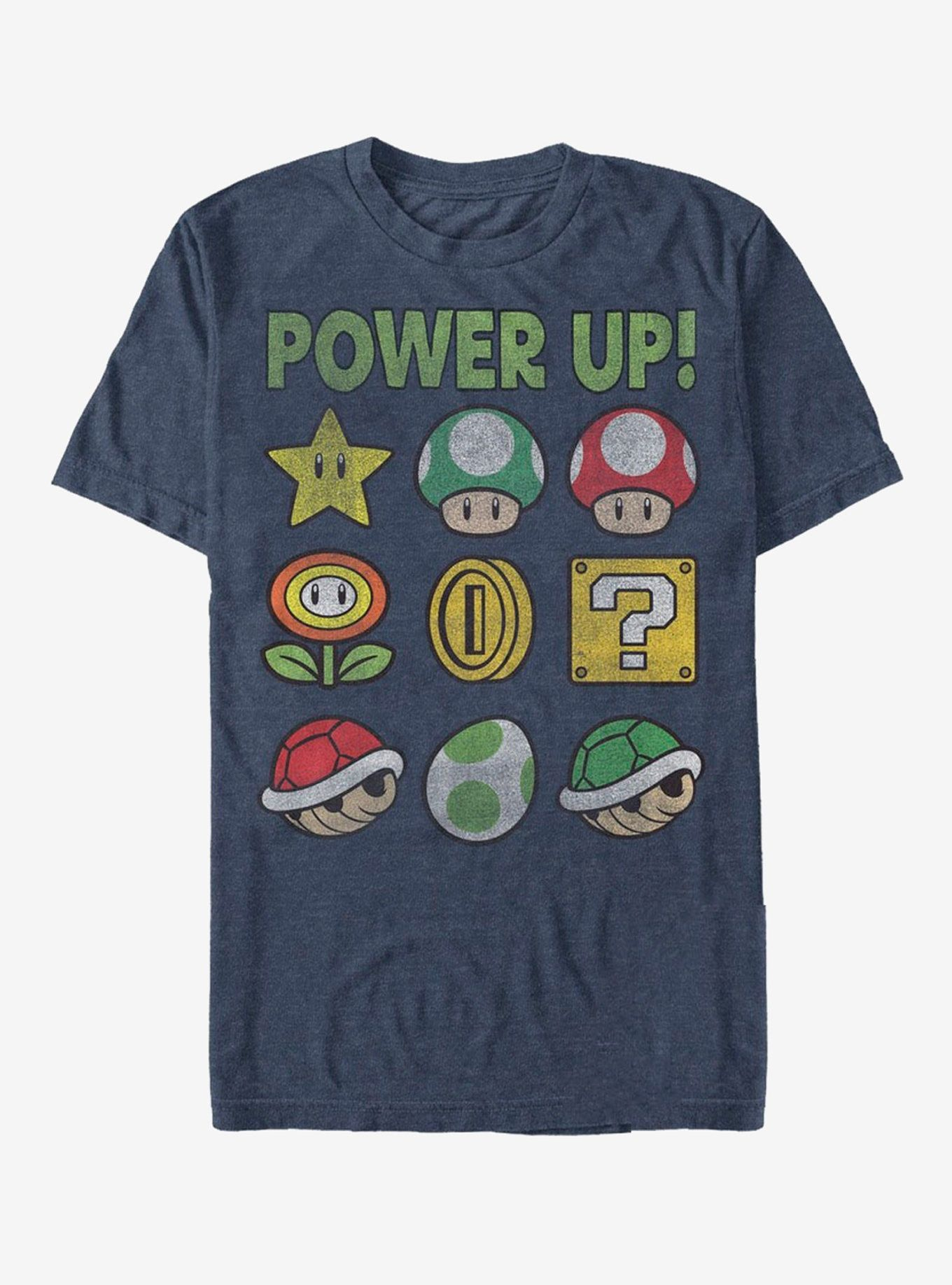 Nintendo Super Mario Power Up Bingo TShirt Video game t