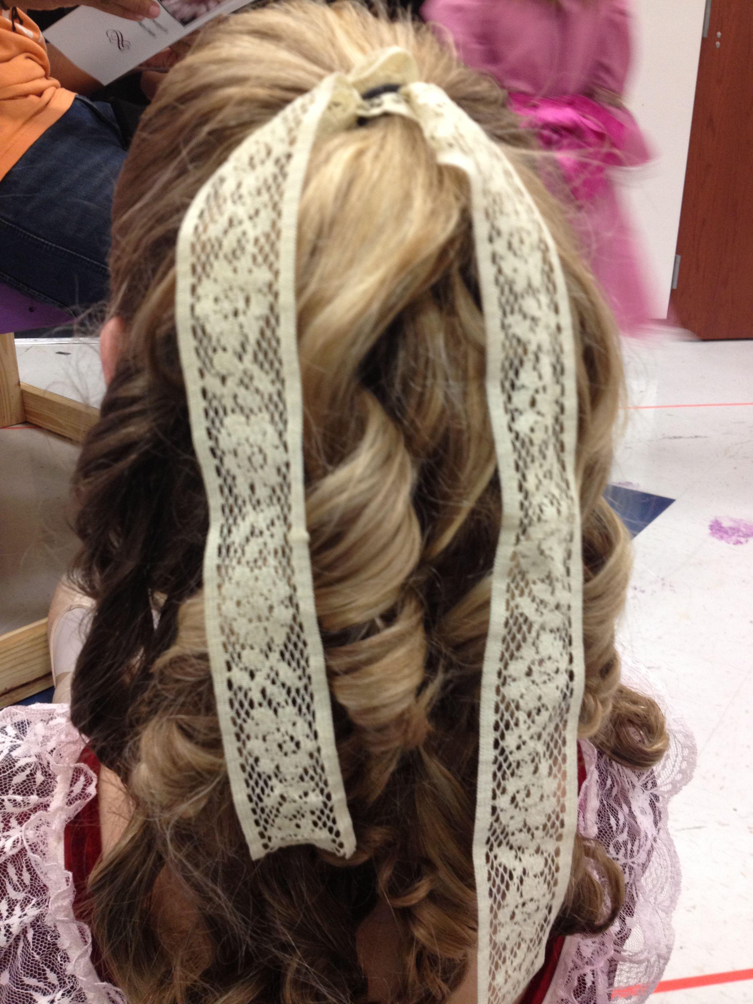 nutcracker clara curls   dance/cheer/gymnastics   hair