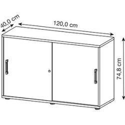 oak cabinets -  Hammerbacher Prokura sliding door cabinet oak / white 1 shelf HammerbacherHammerbacher  - #apartmentdecor #bathroomideas #bedcanopy #bohodecor #cabinets #home #oak #vintagekitchen