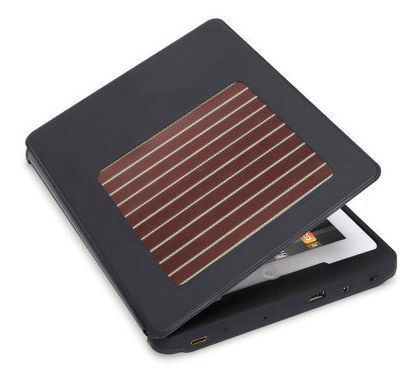 ipad2 case with integrated solar charger