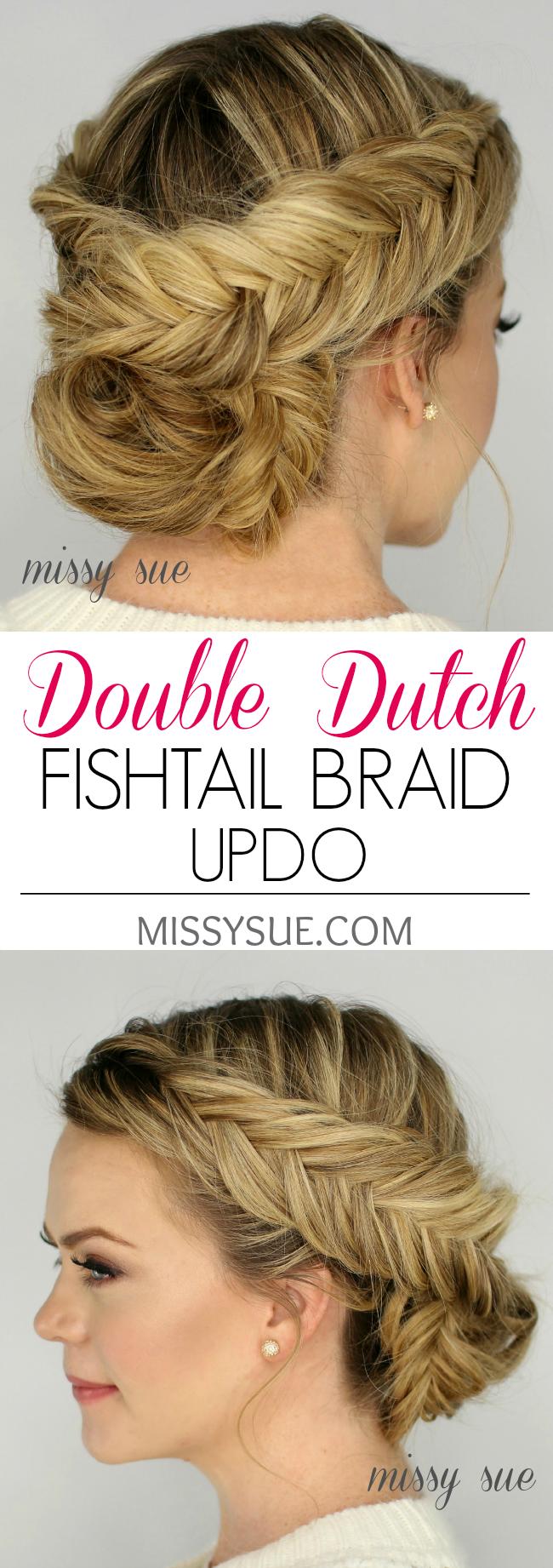 Double dutch fishtail braid updo hair pinterest fishtail
