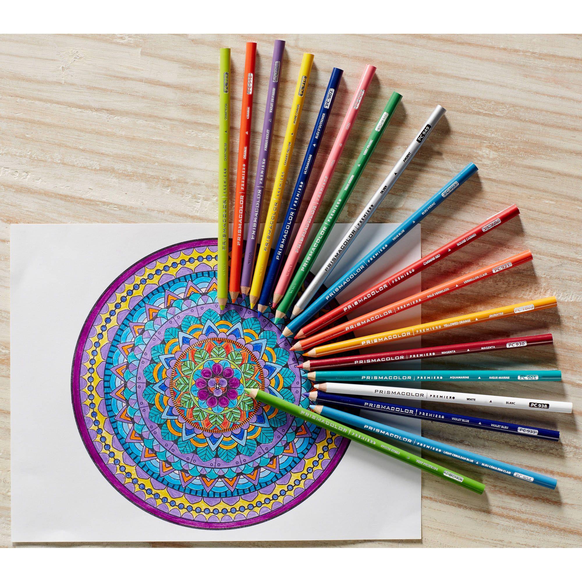Prismacolor Premier Colored Pencils, Soft Core, 24 Pack in ...