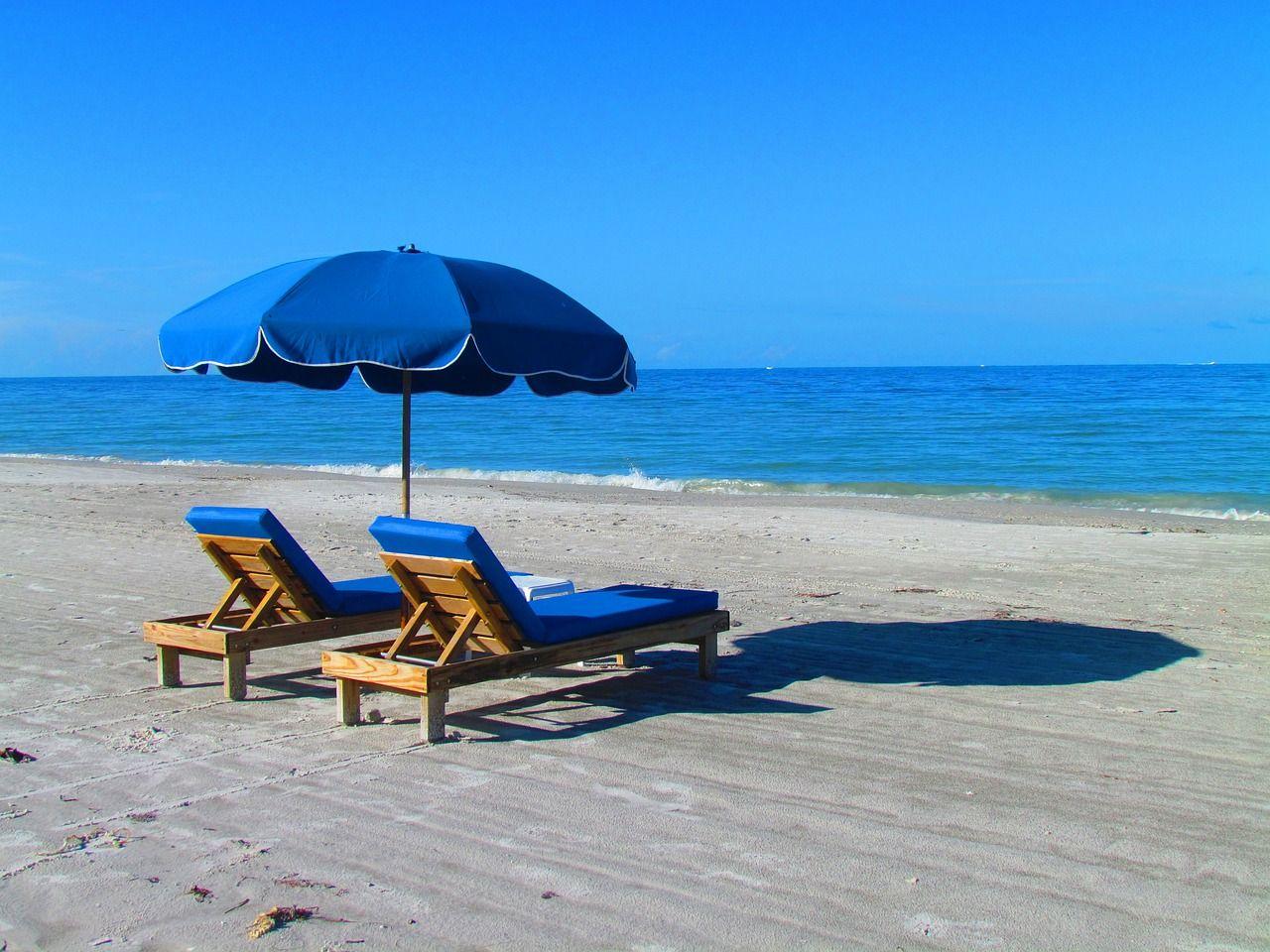 Travel, Beach, Relax, Chair, Umbrella, Ocean travel,