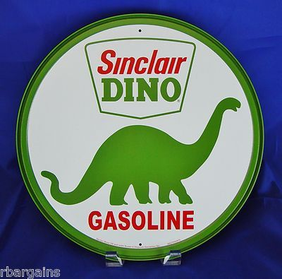 Sinclair Red Dino Oil gas Gasoline advertising 18 Inch Metal sign