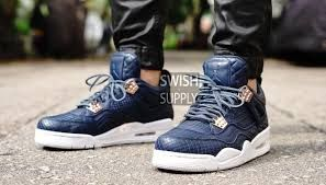 5a856111b5b47b Image result for air jordan 4 prm snakeskin on feet Snake Skin