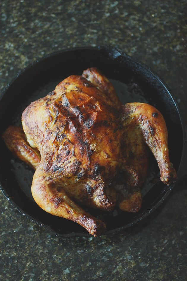 How To Get Great Results Roasting A Whole Chicken Roasting It In A Cast Iron Skillet Cast