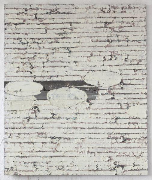 Jupp Linssen   o.T., 2012   Öl und Zinkblech auf Leinwand, 180 x 150 ...