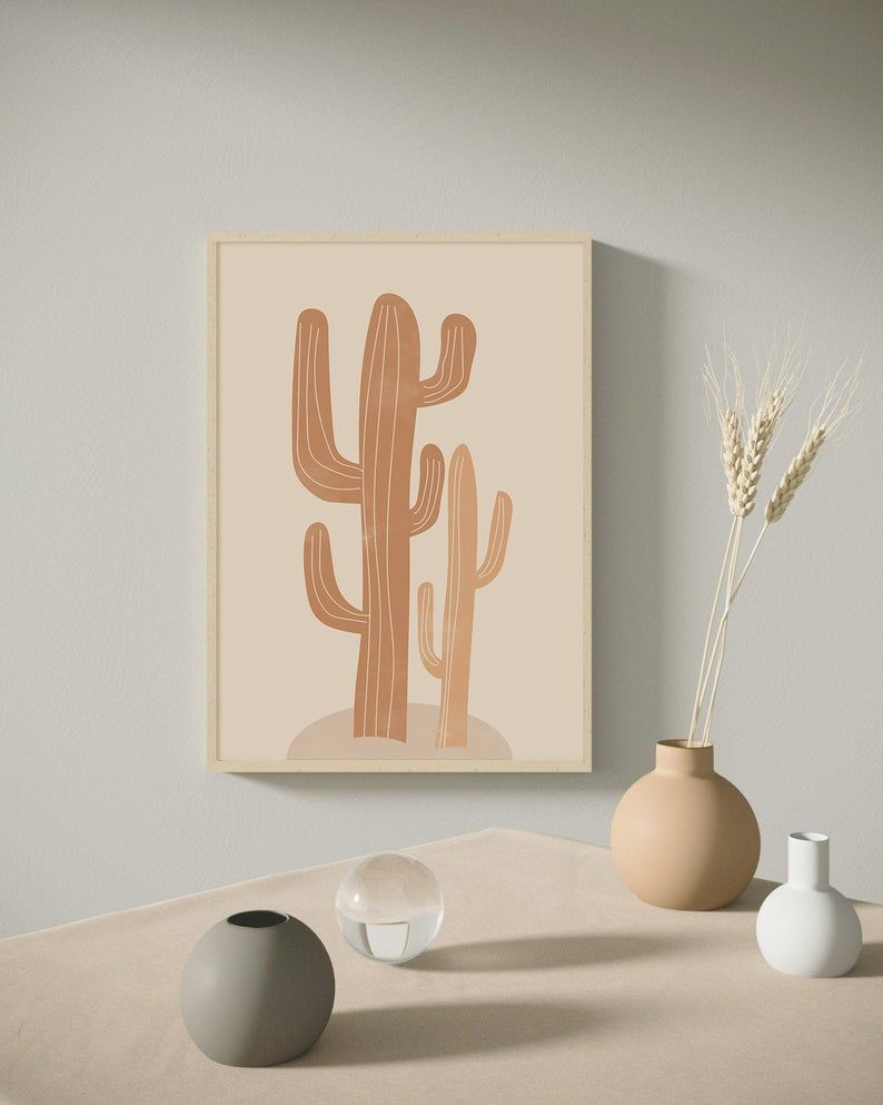 Beige Cactus Art, Pastel Cactus Print, Tropical Wall Art,Modern Wall Art,Abstract Wall Art, Minimalist Print,Living Room Wall Art,Wall Decor#art #artabstract #artmodern #artwall #beige #cactus #decor #minimalist #pastel #print #printliving #room #tropical #wall
