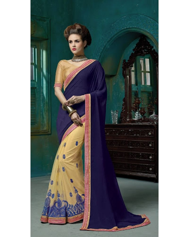 Purple and turquoise wedding dresses  Sttuti Fashion Exclusive Blue Color Saree At Rs  Stutti
